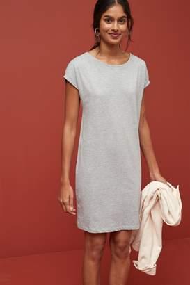 Next Womens Grey Marl Jersey Boxy T-Shirt Dress - Grey