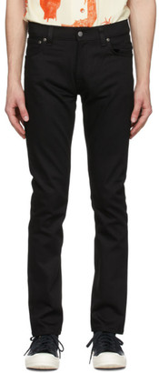 Nudie Jeans Black Thin Finn Dry Jeans