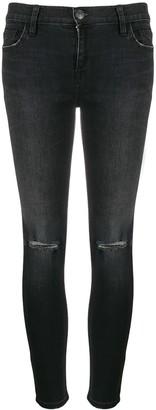 Current/Elliott mid-rise skinny distressed jeans