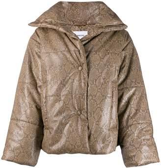 Nanushka Hide snake print puffer jacket