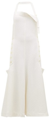 Jacquemus Tablier Halterneck Open-back Apron Dress - Womens - White