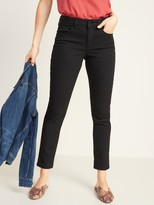 Old Navy Mid-Rise Power Slim Straight Black Jeans for Women