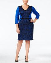 Calvin Klein Plus Size Colorblocked Sweater Dress