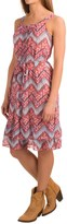 Roper Georgette Zigzag Print Dress - Sleeveless (For Women)