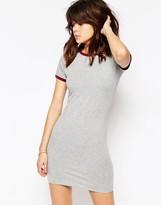 Asos Contrast Tipping Bodycon T-shirt Dress