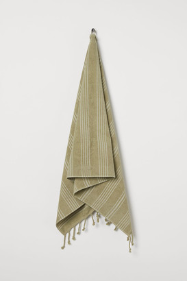 H&M Striped Bath Towel - Green