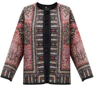 Etro Brumby Floral-print Quilted Jacket - Red Multi