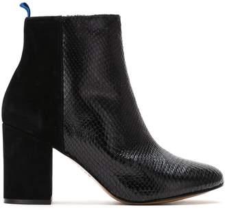 Blue Bird Shoes Bota Duo Couro Python