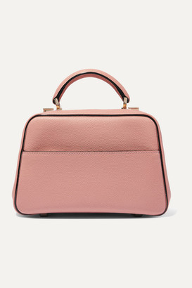 Valextra Serie S Small Textured-leather Tote - Pink