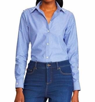 Chaps Women's Plus Size Long Sleeve Non Iron Broadcloth-Shirt