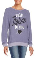 Wildfox Couture Talk Italian Graphic Sweatshirt