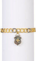 Freida Rothman 14K Gold Plated Sterling Silver Mother of Pearl Shield Bangle