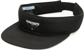 Prada Pre-Owned Triangle Logo Sun Visor