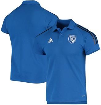 adidas Men's Blue San Jose Earthquakes Coaches AEROREADY Polo