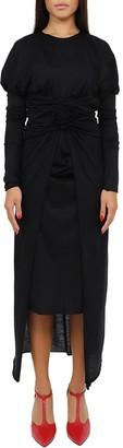 Dolce & Gabbana Black Rosette Dress
