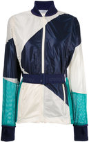 adidas by Stella McCartney contrast belted bomber jacket