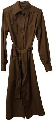Joseph Khaki Cotton Dresses