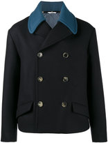 Valentino double-breasted peacoat - men - Cupro/Virgin Wool - 48