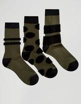 Asos Socks With Fluffy Panels 3 Pack