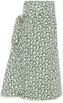 Marni Printed cotton and linen midi skirt