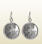 Gucci Flora Earrings In Sterling Silver