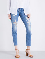 Frame Rigid Re-Release Le Original distressed skinny high-rise jeans