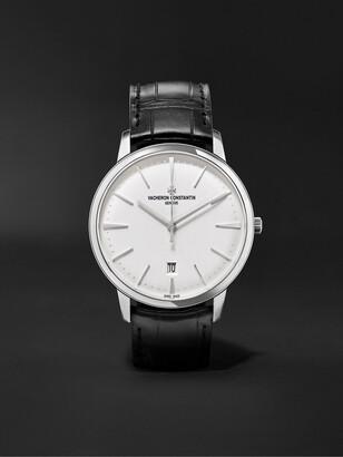 Vacheron Constantin Patrimony Automatic 40mm 18-Karat White Gold And Alligator Watch, Ref. No. 85180/000g-9230