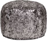 Howard Elliott® Pouf Tall Ottoman in Silver Fox