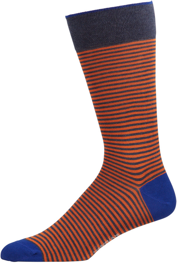 Marcoliani Milano Men's Palio Stripe Socks