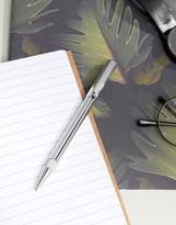 Ted Baker Silver Ballpoint Twist Pen In Gift Box