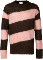 Marni diagonal striped sweater - men - Polyamide/Mohair/Wool - 46