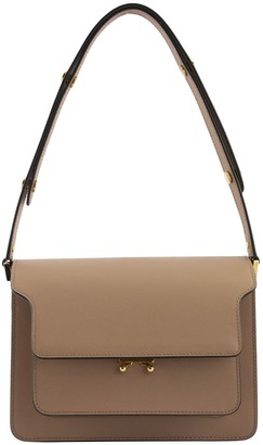 Marni Trunk Bag In Saffiano Leather