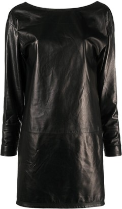 DSQUARED2 Long-Sleeve Leather Dress