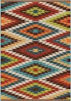 """Orian Rugs Indoor/Outdoor Aztec Sedona Multi Area Rug 5'2"""" x 7'6"""""""