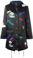 Mira Mikati hooded raincoat