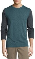 Theory Billy Bicolor Long-Sleeve T-Shirt, Plankton Multi