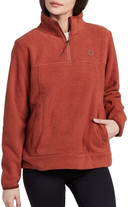 Billabong Boundary Half Zip Mock Neck Fleece Pullover
