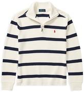 Ralph Lauren Boys' Striped Quarter-Zip Sweater - Big Kid