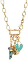 Thumbnail for your product : Gas Bijoux 24K Goldplated & Enamel Charm Necklace