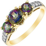 Trilogy H Samuel 9ct Yellow Gold Mystic Topaz & Cubic Zirconia Ring