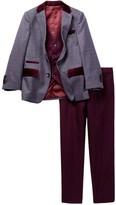 Isaac Mizrahi Three Piece Mini Gingham Wool Blend Suit (Toddler, Little Boys, & Big Boys)