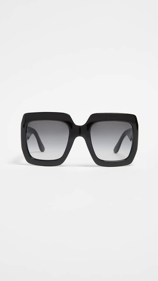 Gucci Oversized Gem Sunglasses