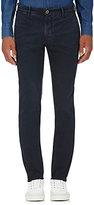 Incotex Men's S-Body Slim-Fit Chino Trousers-NAVY