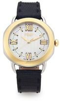 Fendi Selleria Mother-Of-Pearl, 18K Goldplated, Stainless Steel & Iguana Strap Watch
