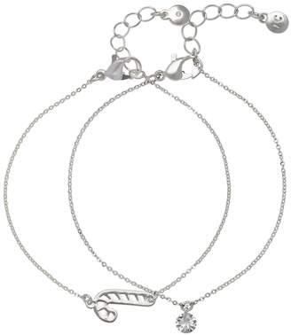 Lauren Conrad Candy Cane Pendant Bracelet Set