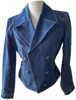 Alaia Blue Denim - Jeans Jacket for Women Vintage