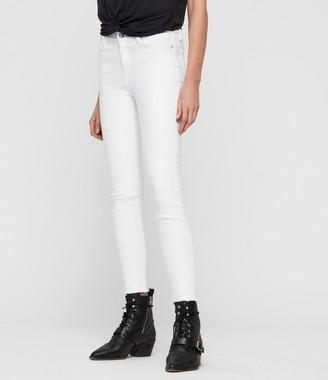 AllSaints Grace Ankle Fray Skinny Jeans
