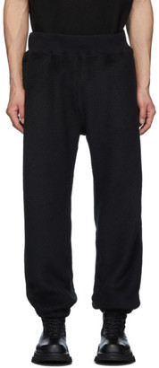 Undercover Black Fleece Rose Lounge Pants