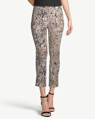 So Slimming Brigitte Animal-Print Side-Vent Crops
