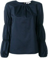 Tibi top with gathered sleeves